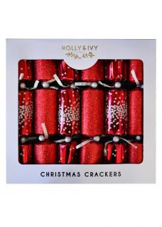 red glitter crackers