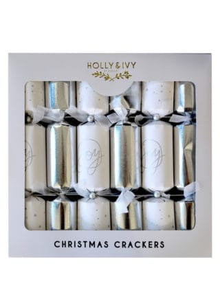 silver text crackers