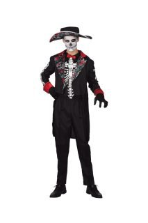 DOD Skeleton Mens Costume