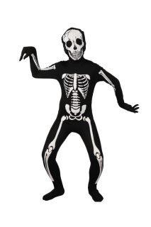 skeleton jumpsuit boys costume