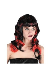 black red curly wig