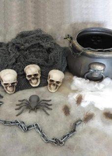 halloween decor cauldron