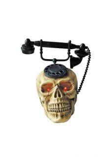 halloween decor skeleton phone