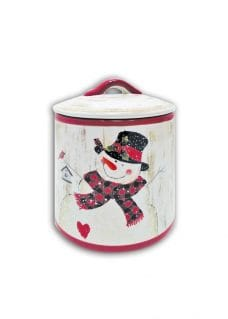 Christmas tableware canister
