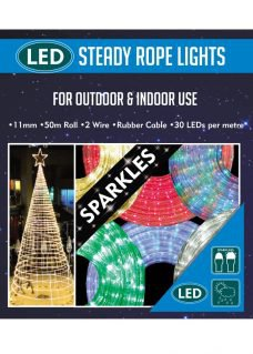 LED Sparkling 50m rope lights